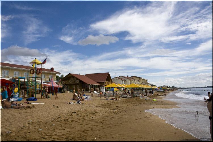 Золотой пляж в Береговом