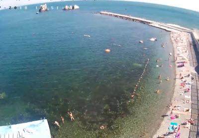 фото с камеры на пляже отеля Атлантик
