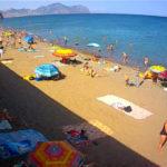 Онлайн камера на пляже Солнечной Долины