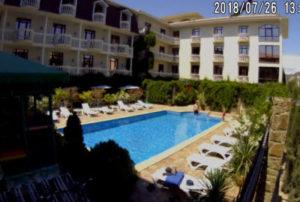 фото с камеры отеля Вилла Феллини