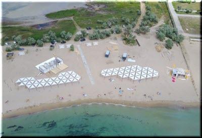 фото пляжа Супер Аква с высоты