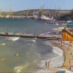 Веб-камера Феодосии с видом на Морской порт и пляжи
