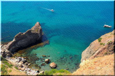 фото Царского пляжа с высоты