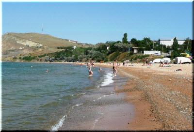 пляж возле Юркино