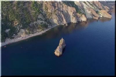 фото Георгиевской скалы с высоты