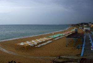 фото с камеры на пляже Учкуевка