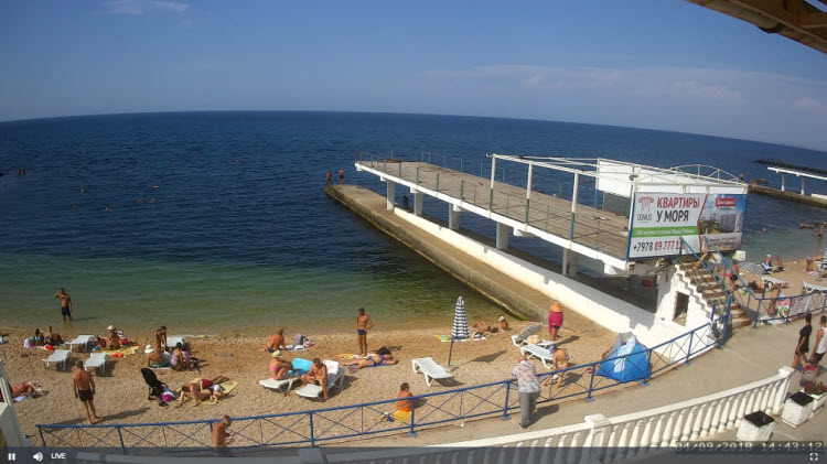 веб-камера на пляже Парк Победы