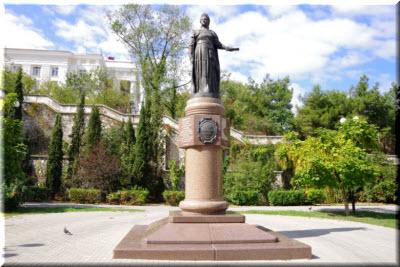 памятник Екатерине 2 в Севастополе
