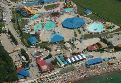 Фото аквапарка «Судак» с высоты