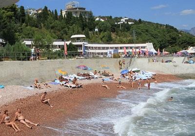 Пляж пансионата Ласковый берег