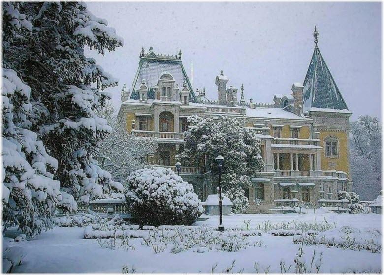 фото Массандровского дворца зимой