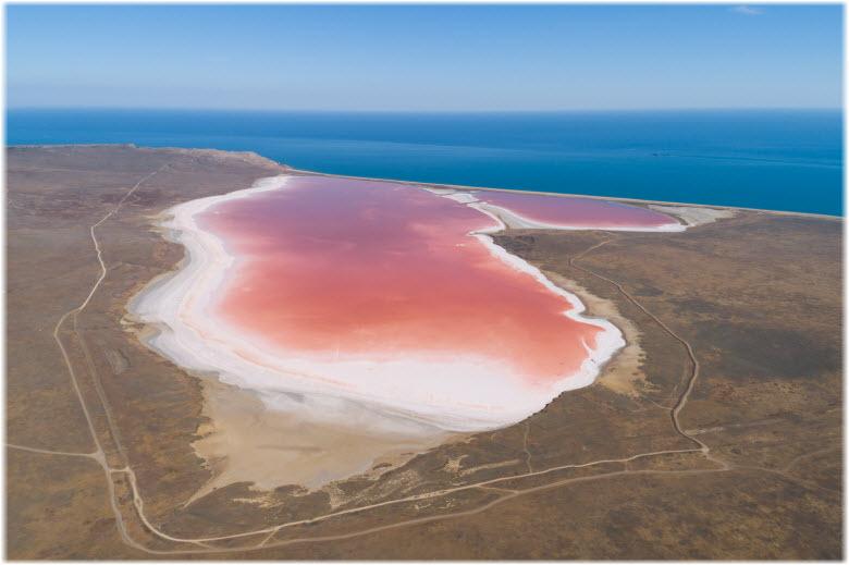 фото озера Кояшское с дрона