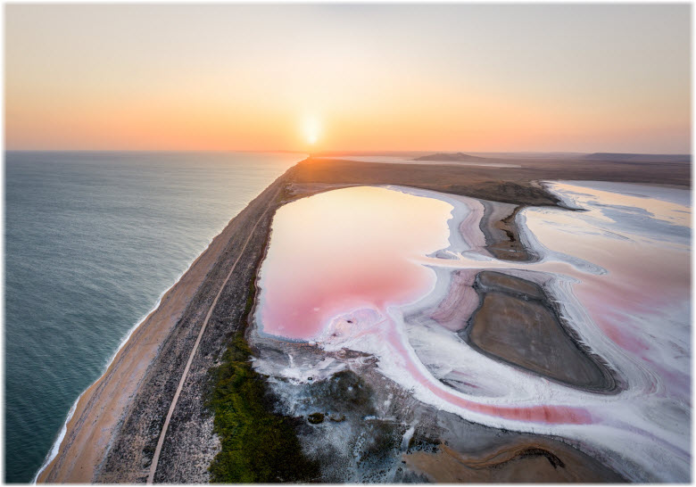 панорама Керченского озера