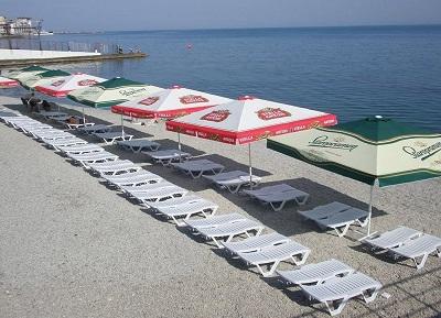 пляж пансионата массандра