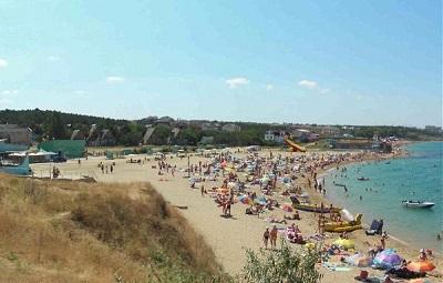 турбаза мокроусова - пляж