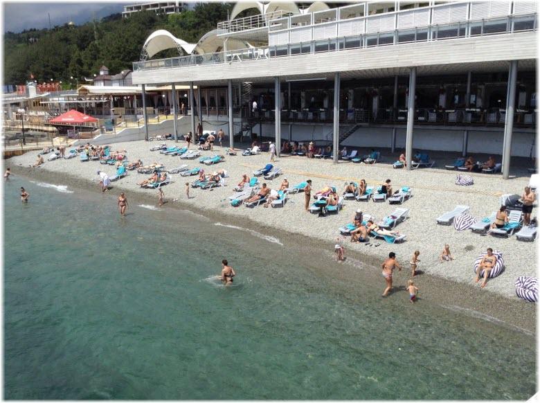 Пляж «Ялта-Интурист»