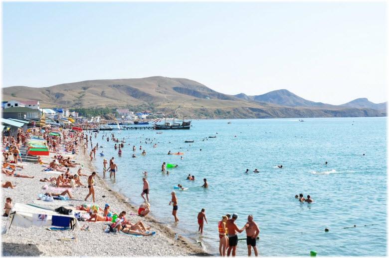Пляж лагеря «Горный»