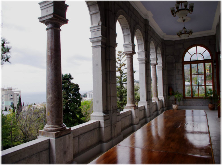 балкон в Юсуповском дворце