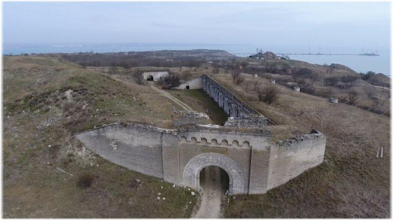 фото крепости Керчь сверху