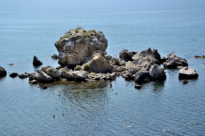 Вид на Крабий остров с моря