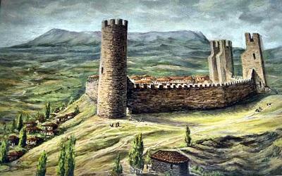 Крепость Алустон на старых картинках