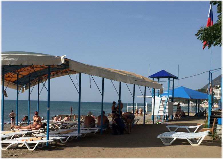 Пляж пансионата «Жемчужина»