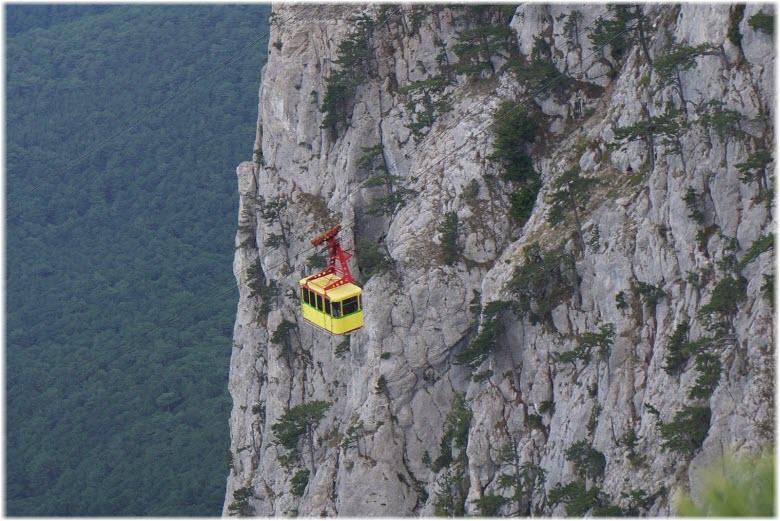 фото кабинки возле горы