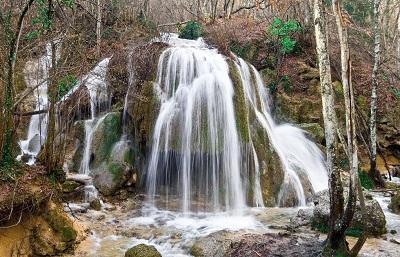 водопад Серебряные струи фото