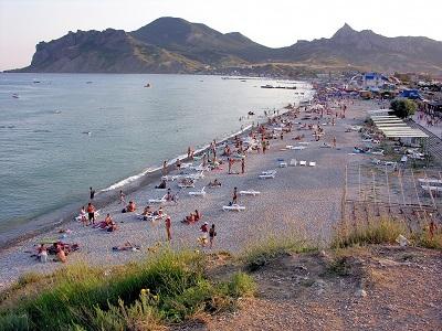 дом юнге коктебель - пляж