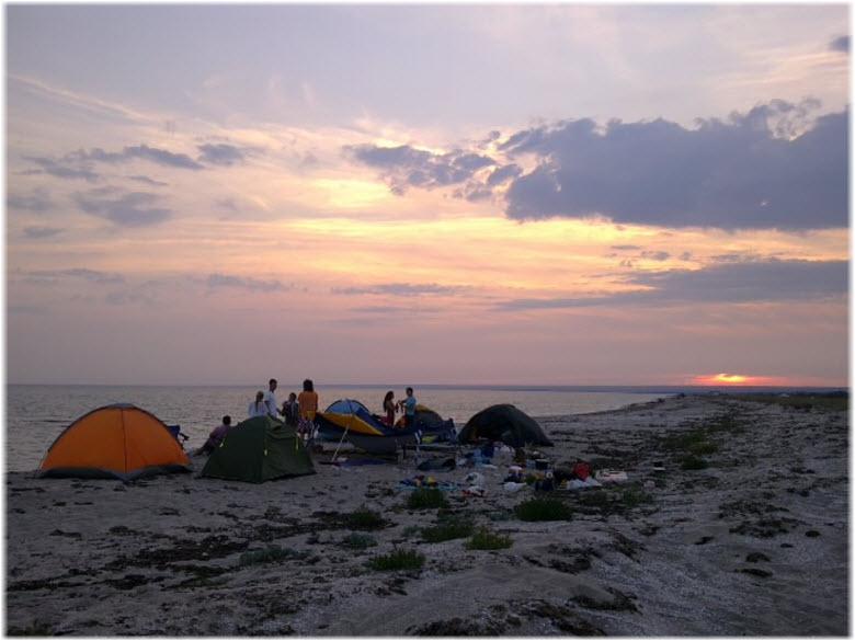 палаточный городок на Беляусе
