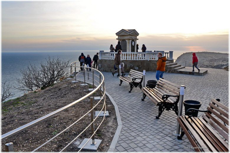 фото Георгиевского парка над пляжем