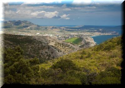 вид с горы сокол в крыму фото