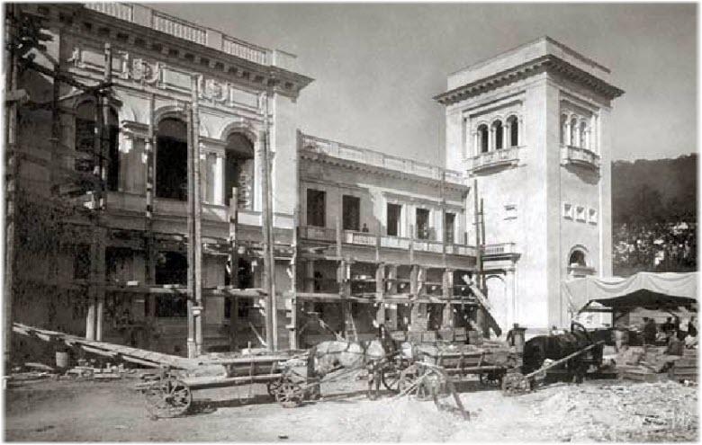 строительство Белого дворца в 1910 году