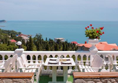 фото с террасы отеля Форест