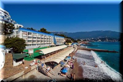 отели в ялте со своим пляжем