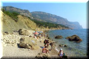 пляж гуровские камни гурзуф