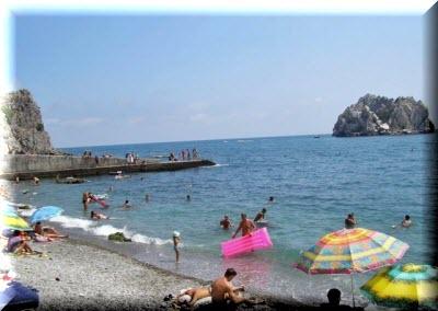 пляж гуровские камни гурзуф фото