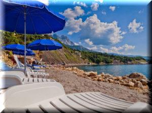 отели алупки с собственным пляжем