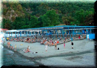 пляж санатория крым в партените