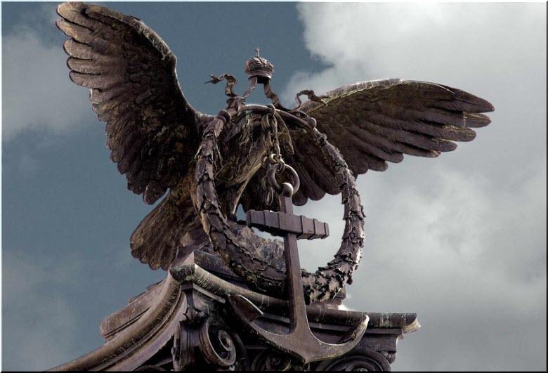 верхушка Памятника затопленным кораблям