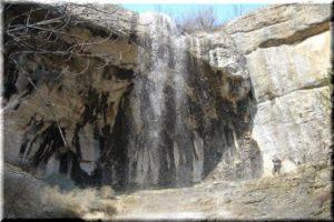Водопад и грот Фатьма-Коба в Крыму