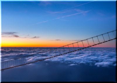 Фото мостов над облаками