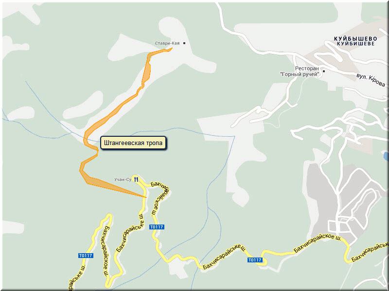 штангеевская тропа маршрут на карте