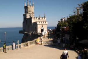 фото с веб-камеры Крыма у Ласточкиного гнезда