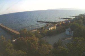 фото с веб-камеры на набережной п. Приморский