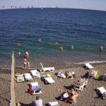 фото с веб-камеры на пляже Дубна в Алуште