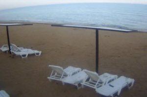 фото с веб-камеры на пляже Героевки