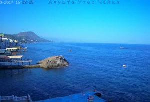 фото с веб-камеры у отеля Чайка в Утесе