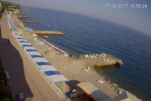 фото с веб-камеры у отеля Эллада в Семидворье