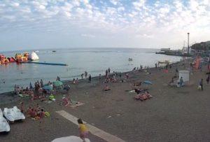 фото с веб-камеры на Городском пляже Алушты